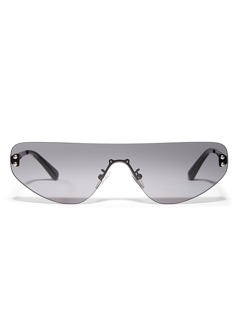 McQ-Alexander McQueen Black Colourful graded visor sunglasses for women