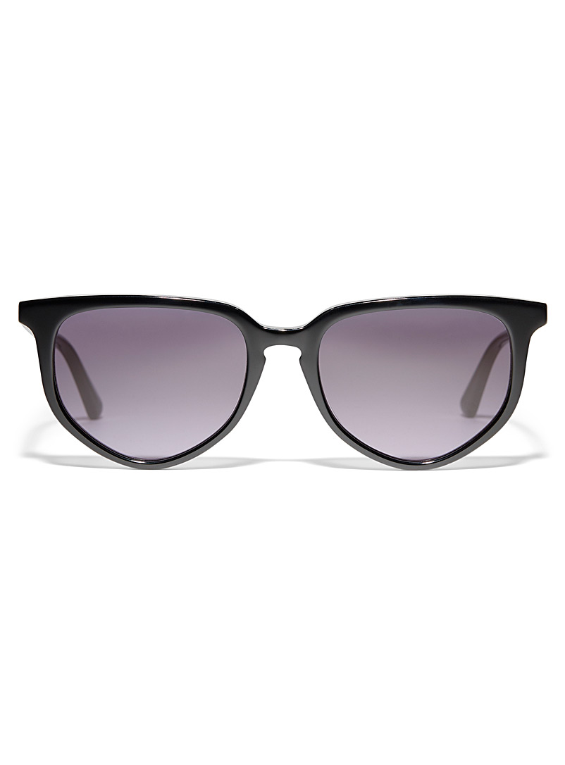 McQ-Alexander McQueen Black Geo round sunglasses for women