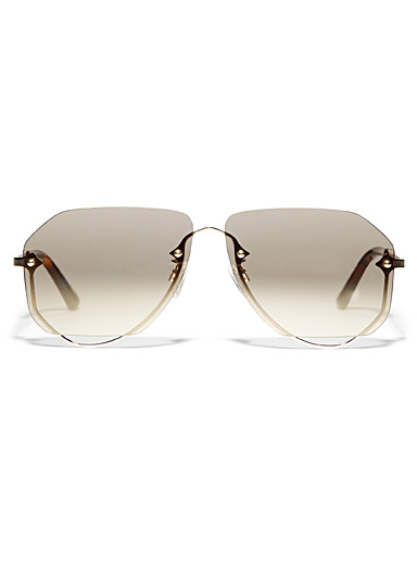 Openwork aviator sunglasses