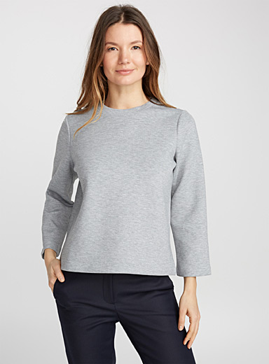 Le sweat chiné minimaliste