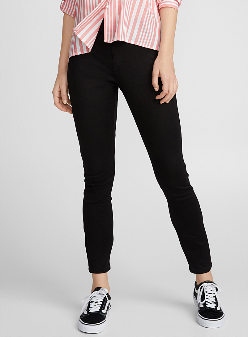 Le legging denim stretch - Jambe ajustée - Noir