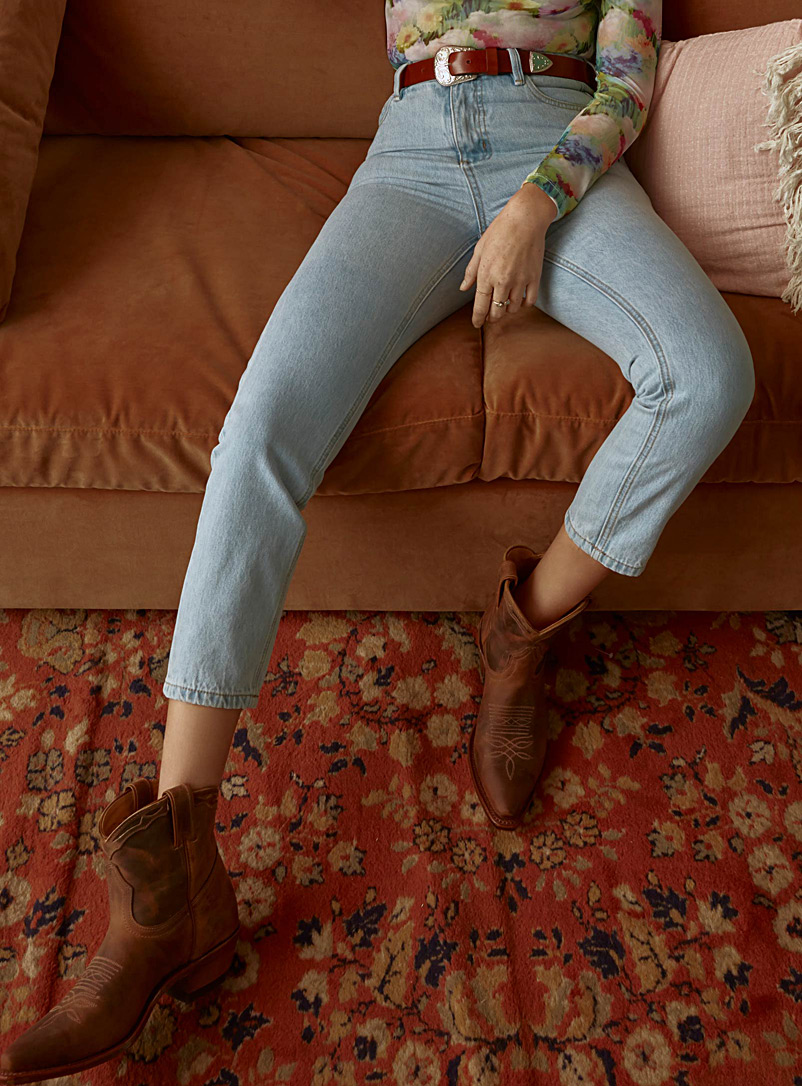Light blue mom jean  Indie fit - High Rise - Slate Blue