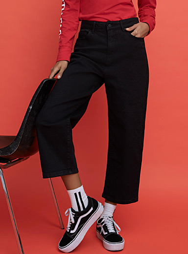 Black straight-leg jean  Soul fit