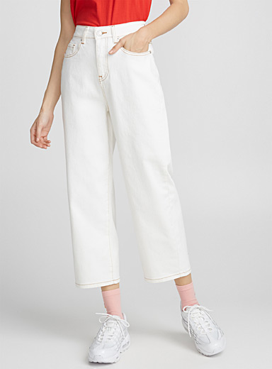 Le jeans blanc jambe large