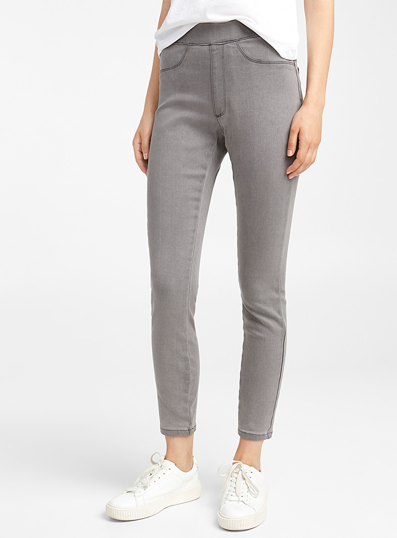 Ic?ne Grey Ultra stretch jegging for women