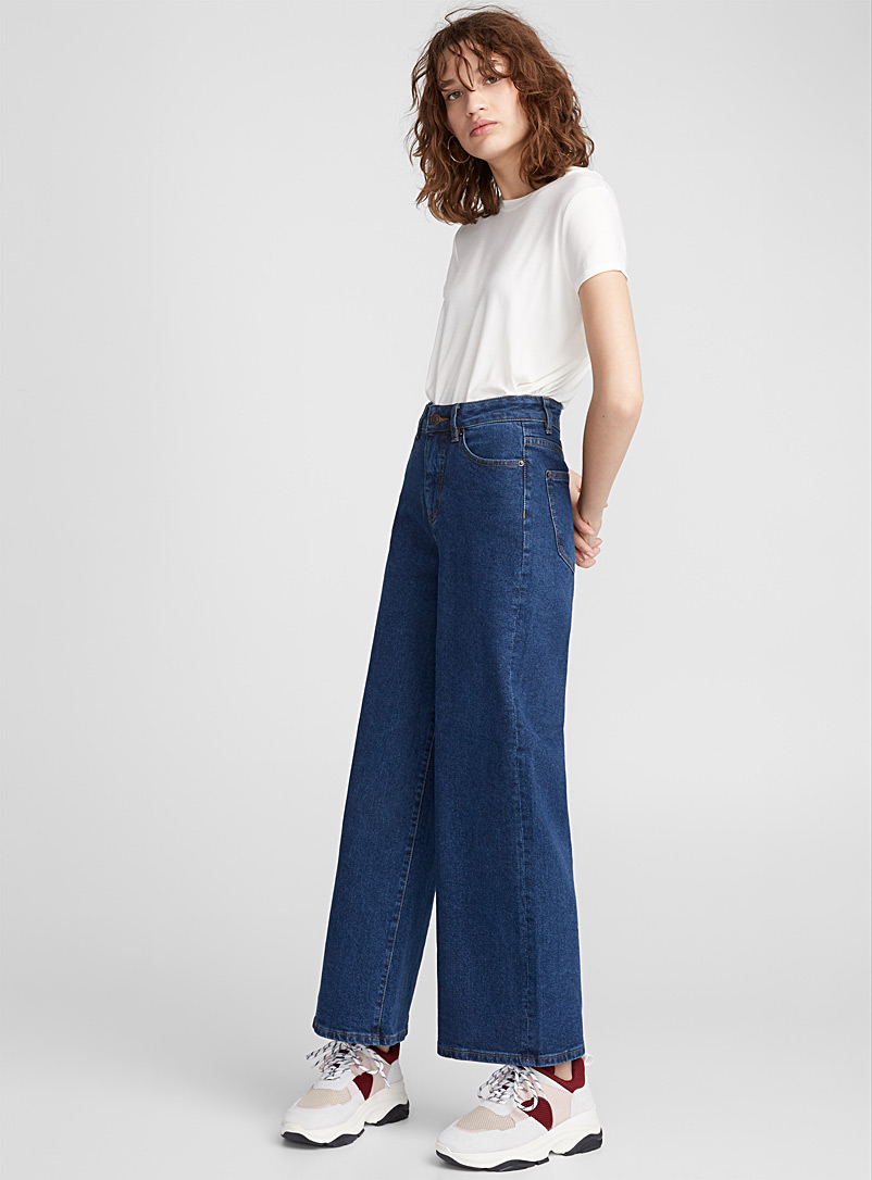 Dark blue high-rise wide-leg jean - High Rise - Sapphire Blue