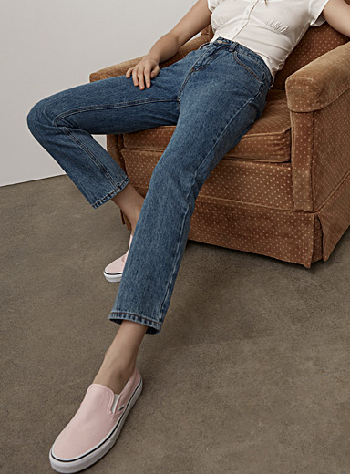 Straight regular-rise jean