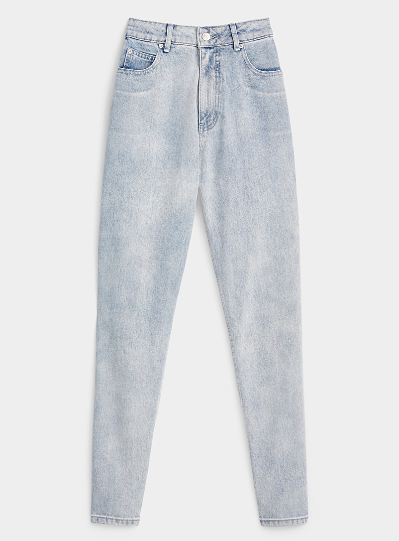 Twik: Le mom jean vintage basique  Coupe Old School Oxford pour femme