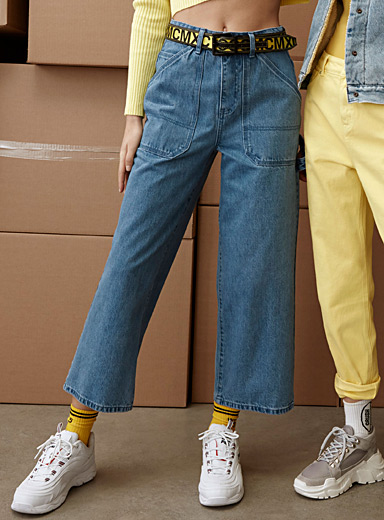 Light blue denim carpenter pant