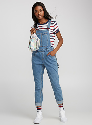All denim overalls