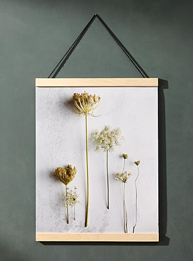 Dried flower poster  15&quote; x 18&quote;