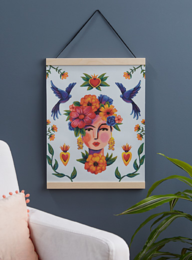 Goddess of flowers hanging poster  15&quote; x 18&quote;