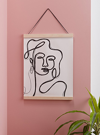 Linear portrait hanging poster <br>15