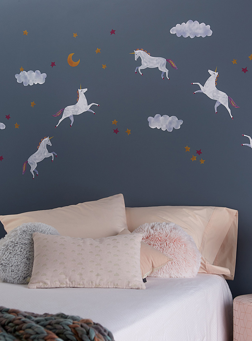 Unicorns in the clouds wall stickers - Kids - Assorted