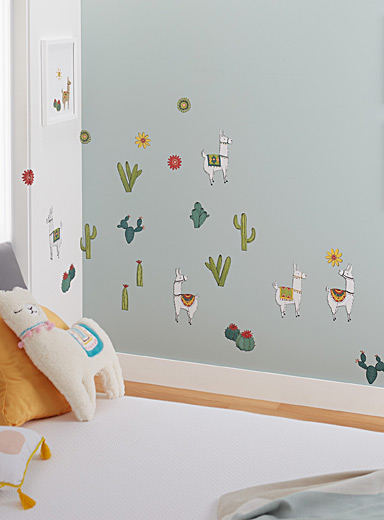 Desert llamas wall stickers