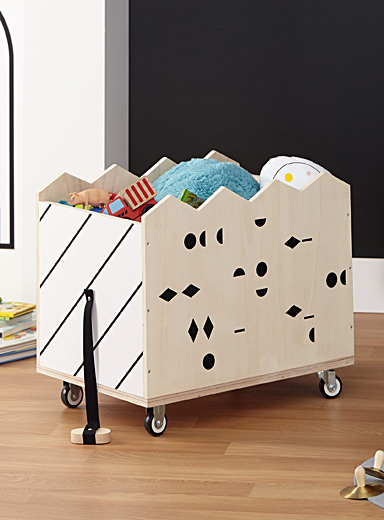 Stripes and confetti storage bin