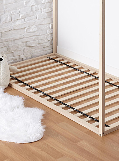 Single bed slatted bed base
