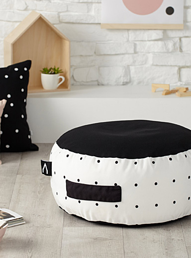 Speckled pouffe