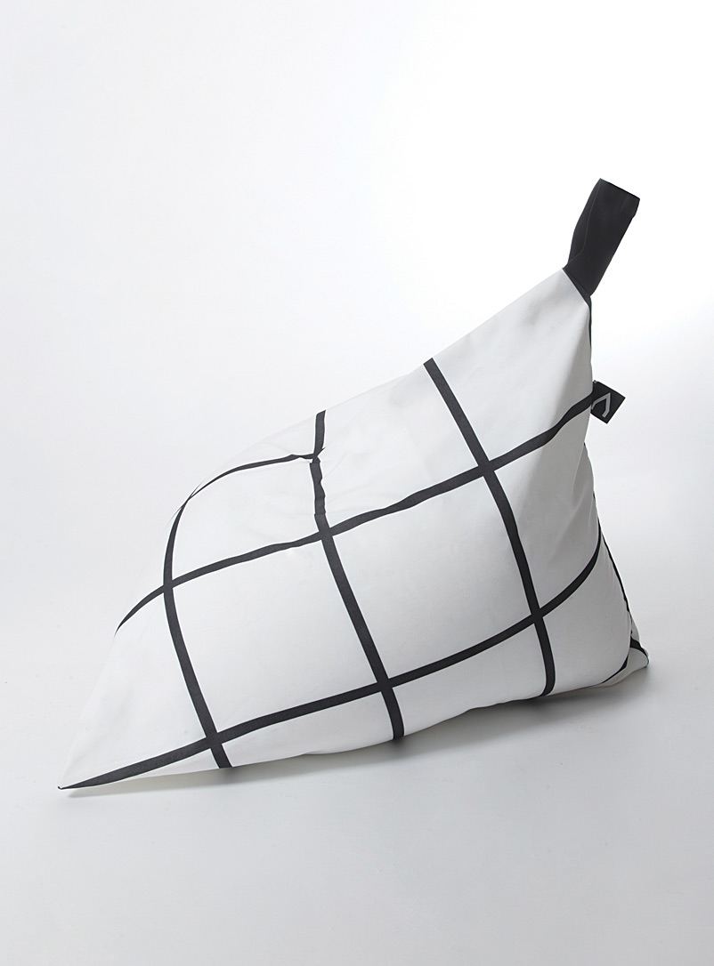 Origami check beanbag - Kids - Black and White