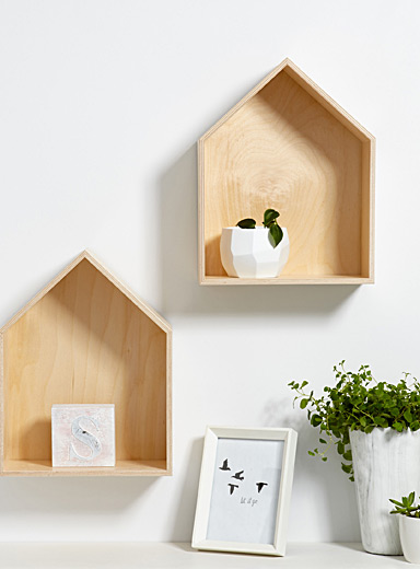 Set of 2 little cottage shelves
