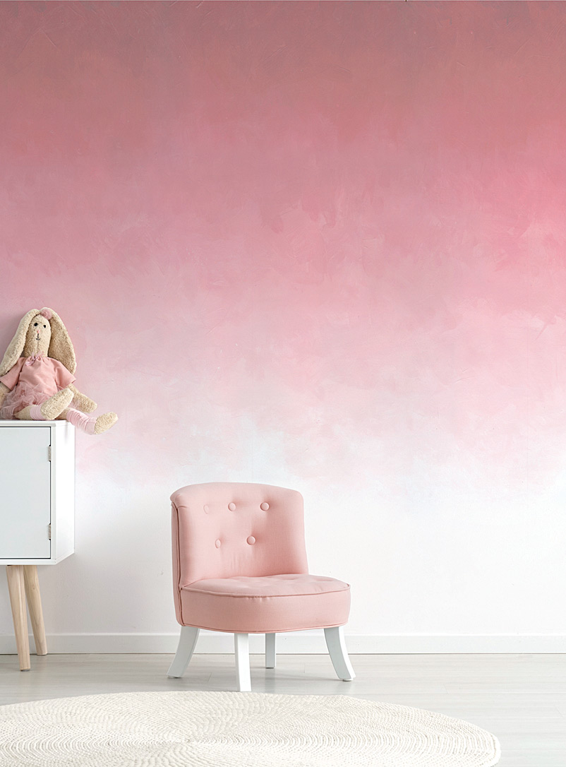Painterly ombré wallpaper - Wall Decor - Pink