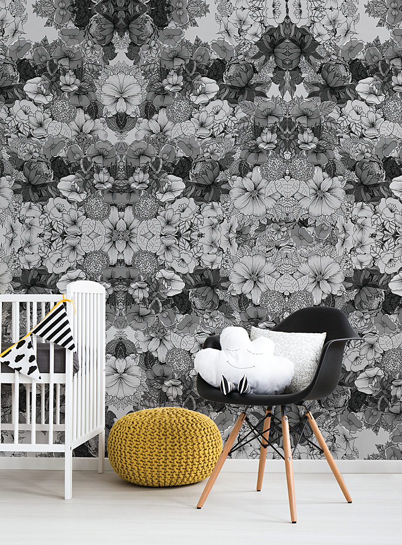 Viola grey wallpaper - Wall Decor - Patterned Grey