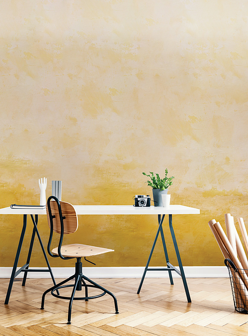 ochre-wallpaper