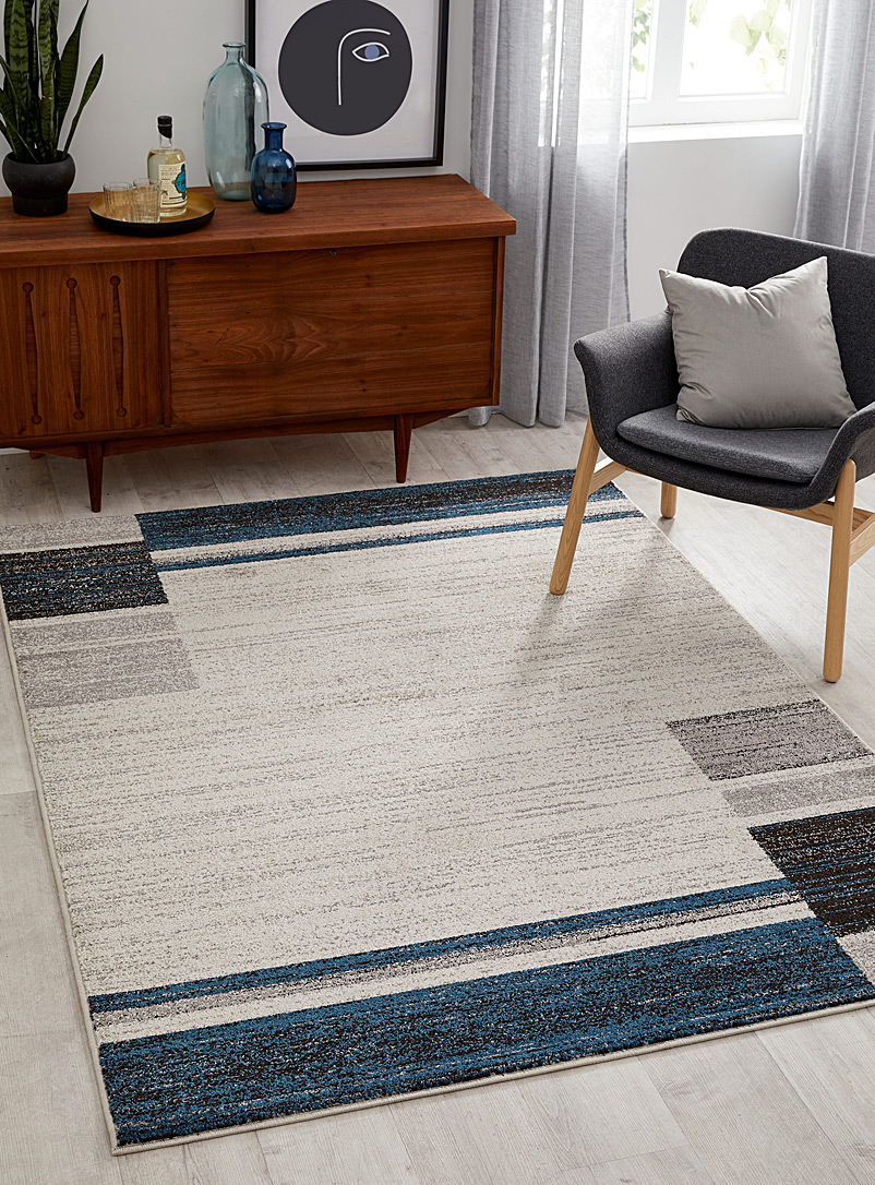 Simons Maison Blue Graphic blocks rug  2 sizes available