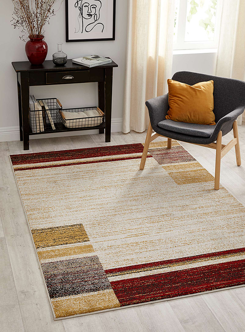 Simons Maison Red Graphic blocks rug  2 sizes available