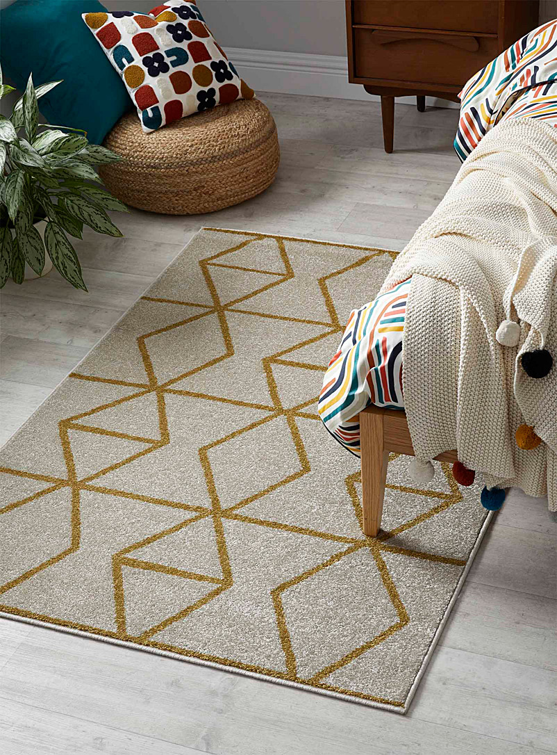 Simons Maison Golden Yellow Prismatic chain rug See available sizes