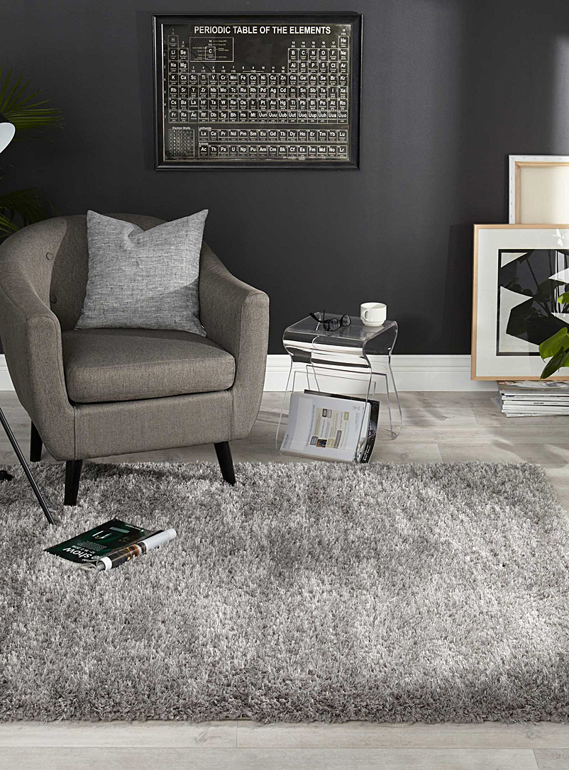 Modern grey shag rug - Area Rugs - Grey