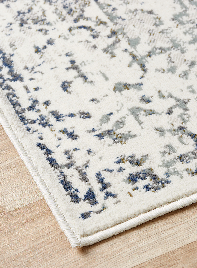 Faded ornament rug - Area Rugs - Silver