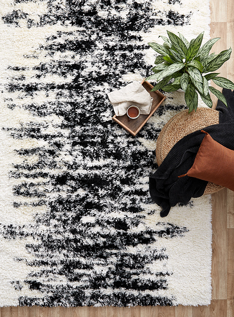 Salt and pepper rug - Area Rugs - Black and White