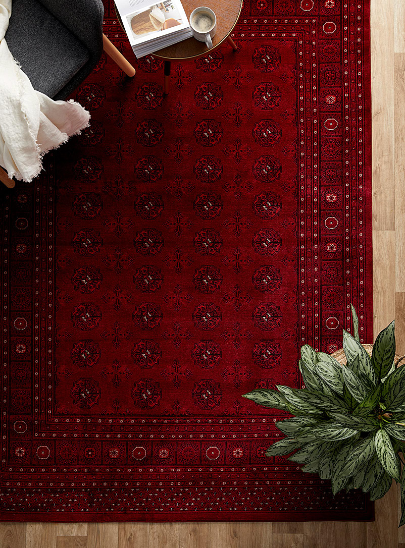 Simons Maison Ruby Red Bokhara-inspired rug See available sizes