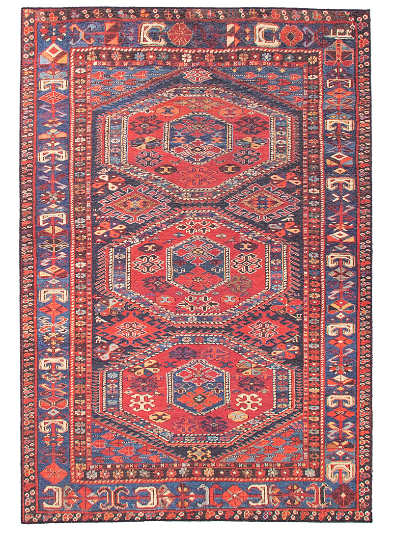 Simons Maison Patterned Red Medallion trilogy rug