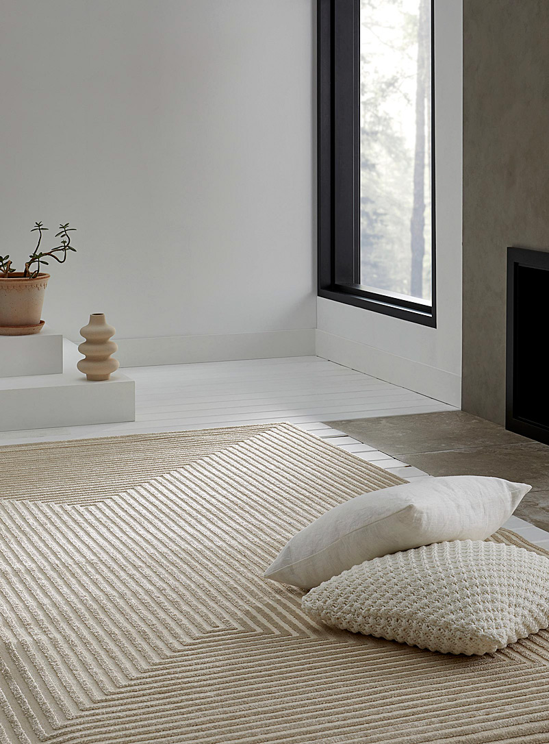 Simons Maison Assorted beige  Optical frame rug See available sizes