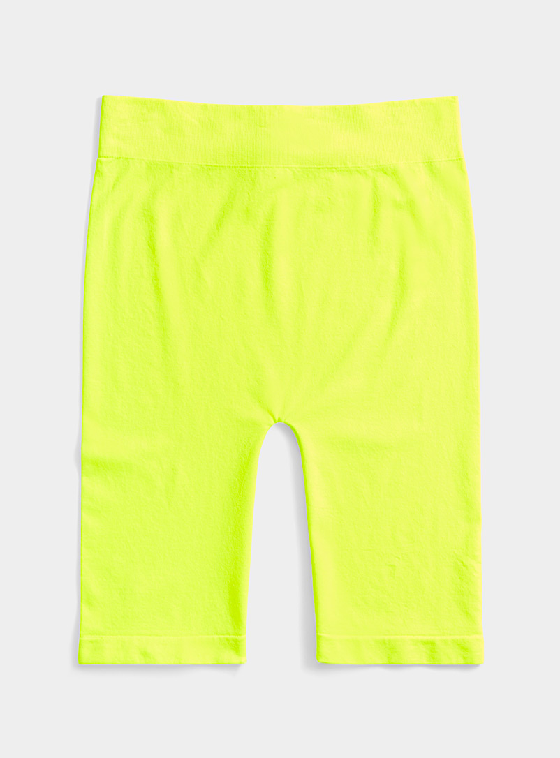 Twik Bright Yellow Seamless biker short for women