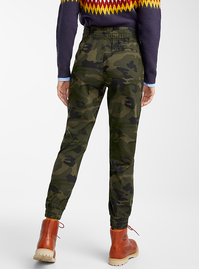 Camo chino joggers - Joggers - Patterned Green