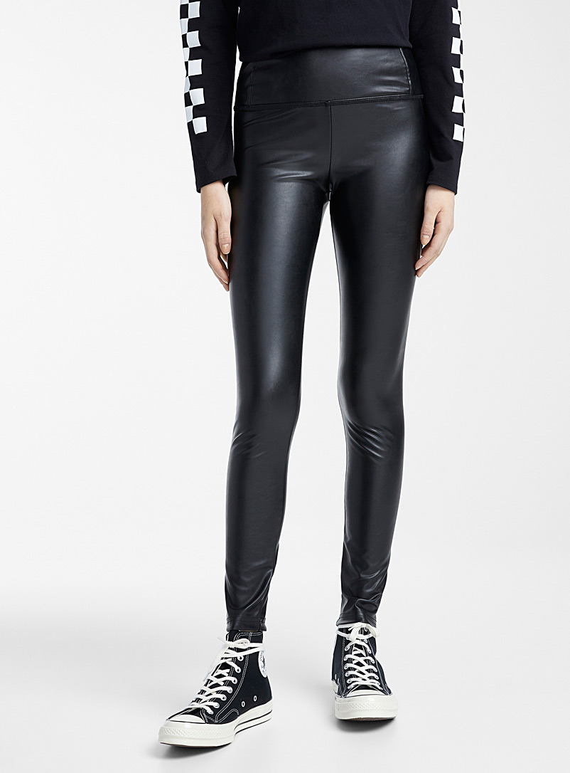 Twik Black Faux-leather legging for women