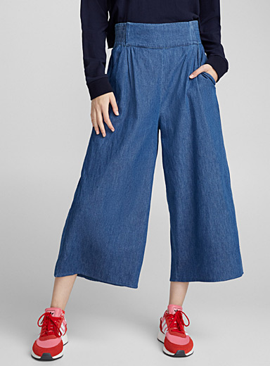 Denim gaucho pant