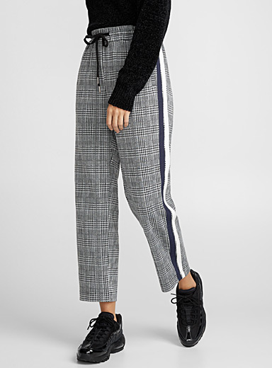 Two-tone stripe pant