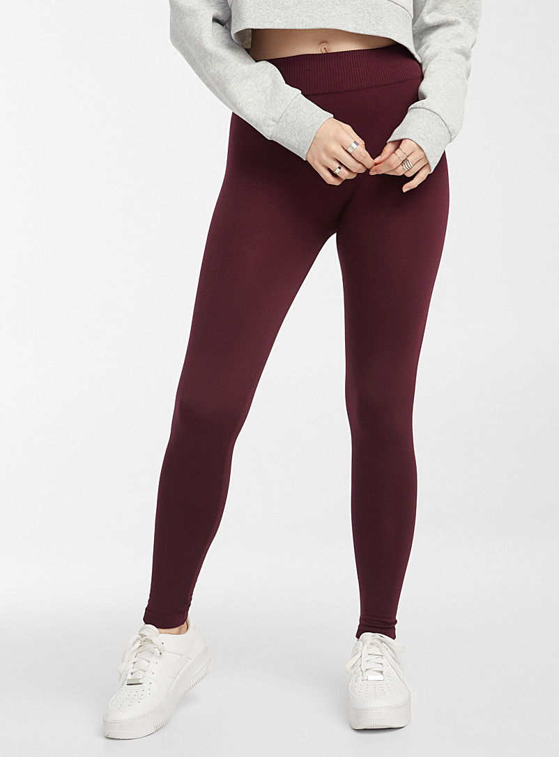 Twik Ruby Red Fleece-lined legging for women