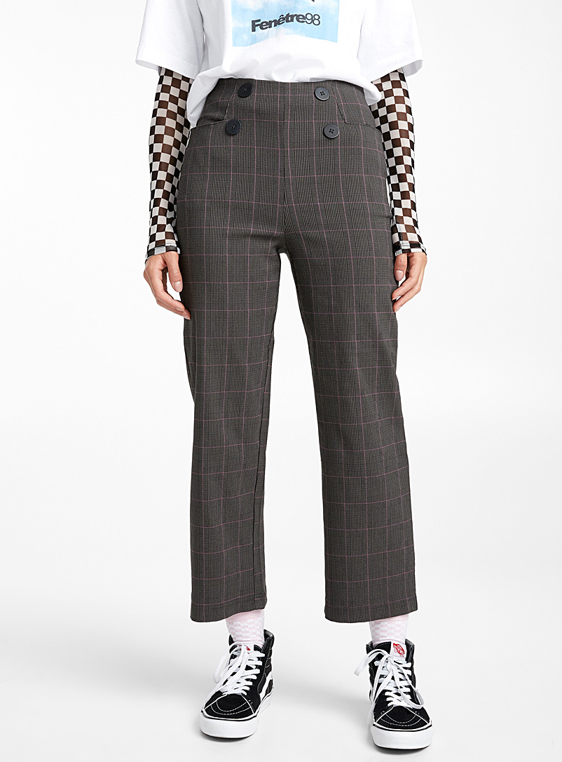 double-button-check-pant