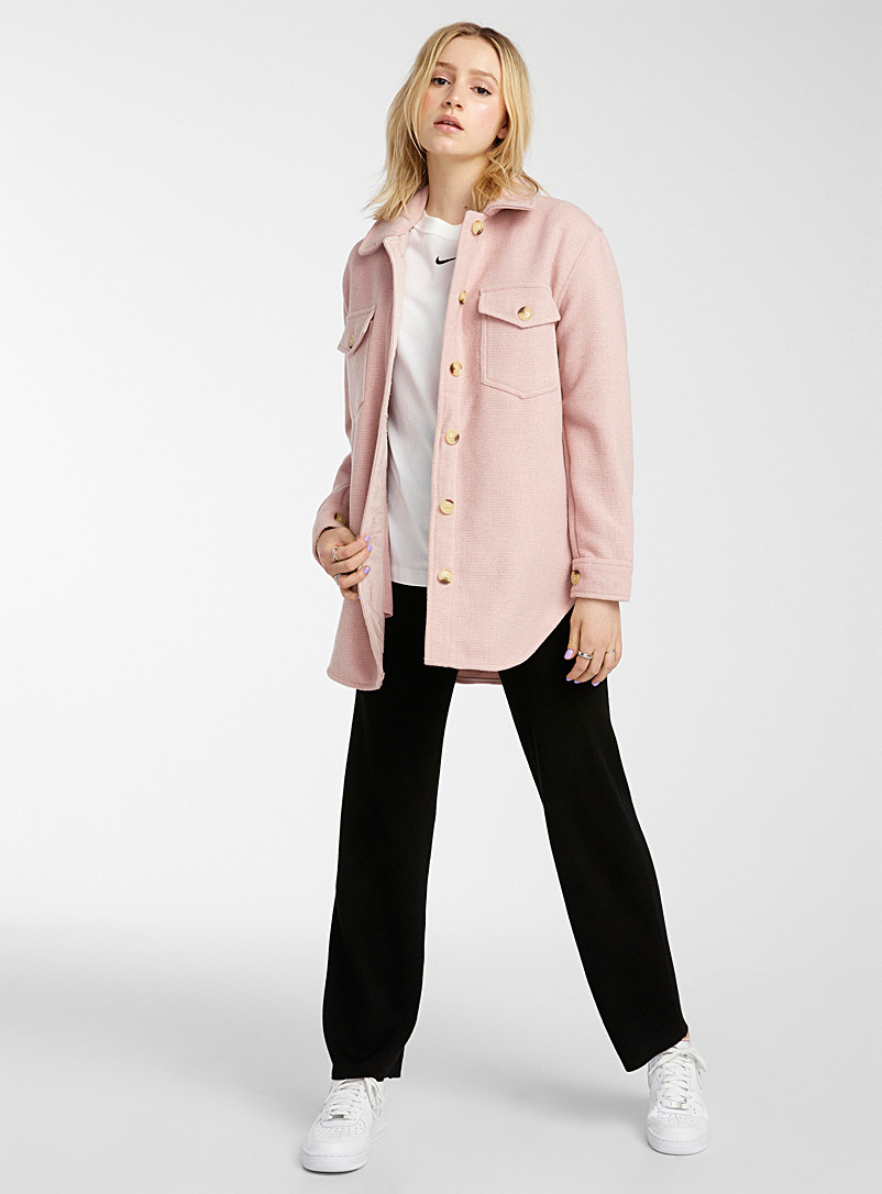 Twik Dusky Pink Recycled utility overshirt for women