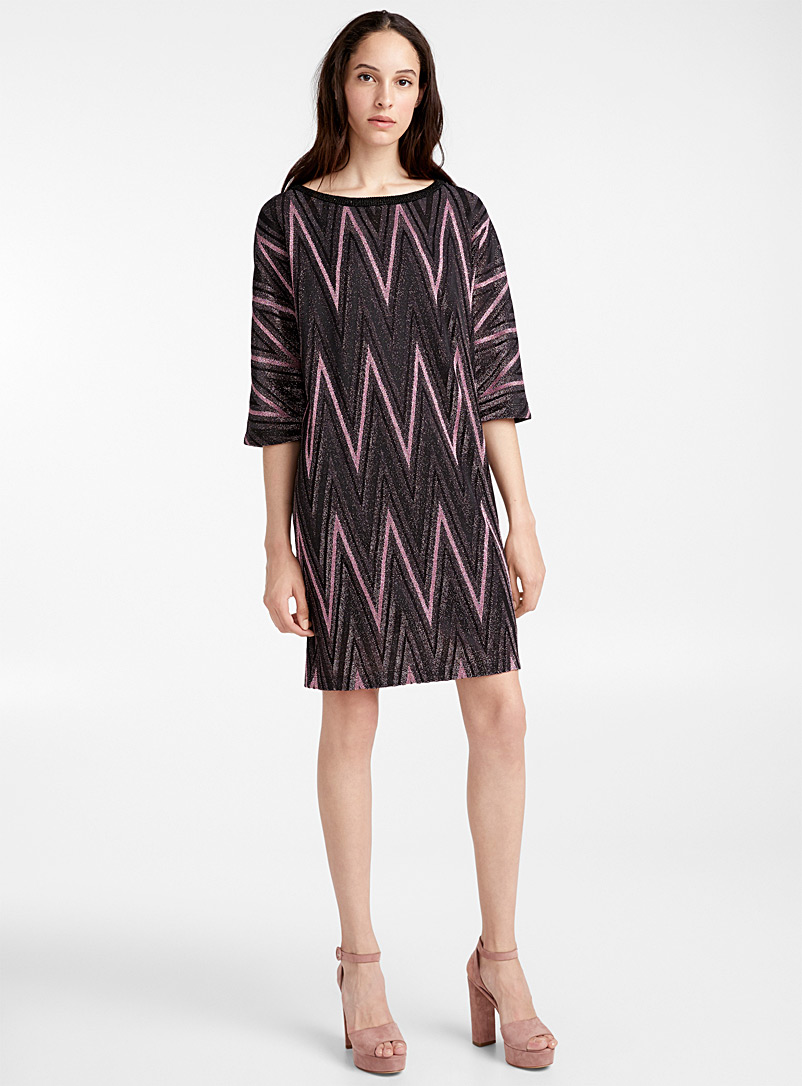 La robe chevrons Lurex - M Missoni - Rose