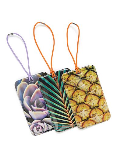 Plant print luggage tags <br>Set of 3