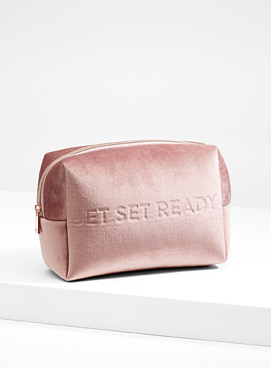 Velvet travel makeup bag