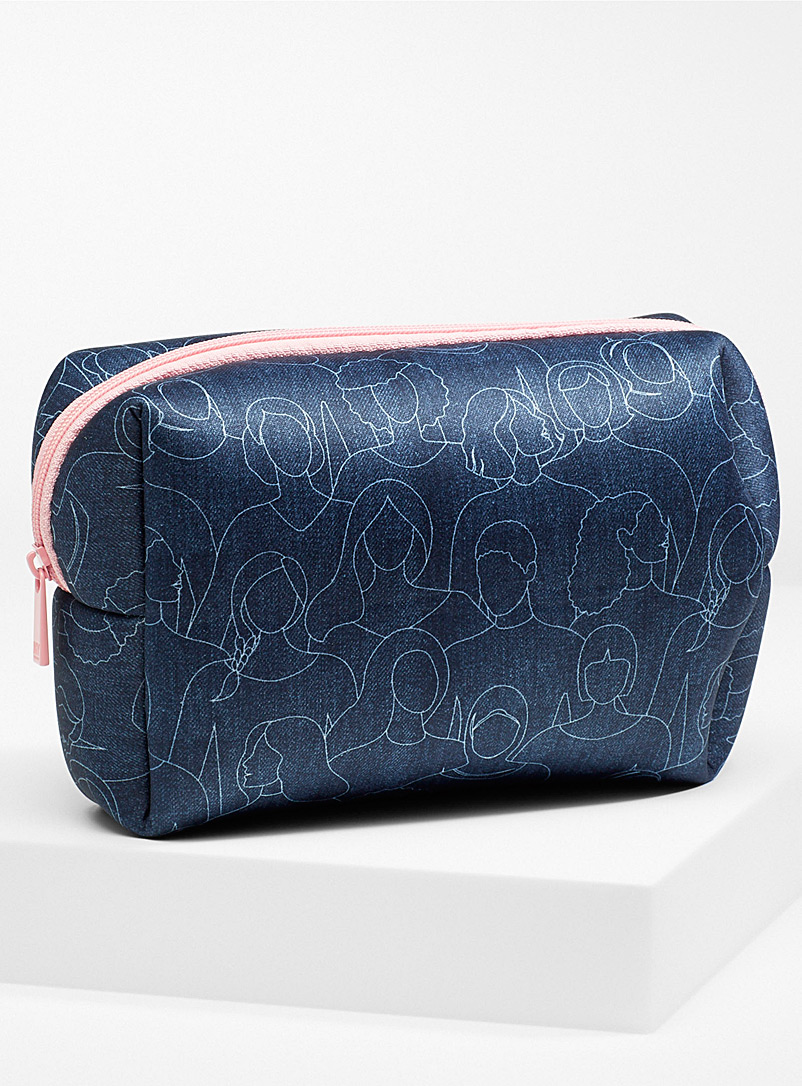 My Tagalongs Patterned Blue Because I Am A Girl large travel case for women
