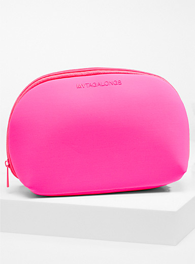 My Tagalongs Fuchsia Neon pink travel case for women