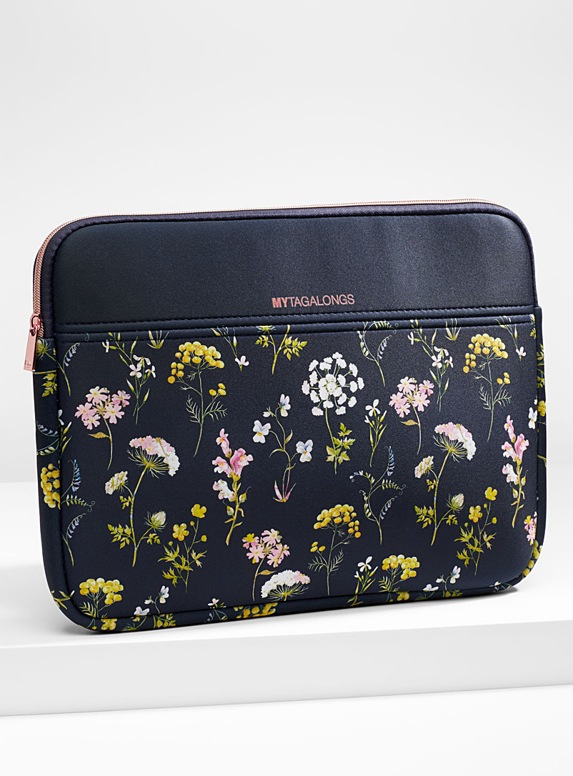 Cut flower laptop case - Assorted Extras - Patterned Blue
